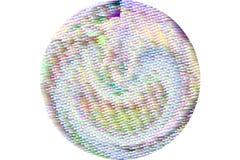 Overlay o tipo fundo do grunge do efeito do filtro, o áspero ou o retro do círculo ou da esfera das ilustrações Tampa, splats, vi imagem de stock royalty free