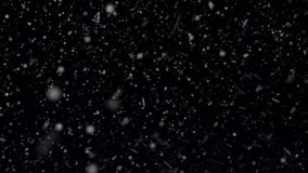 An Overlay for a Snow Effect. Its Real Snowfall. stock footage