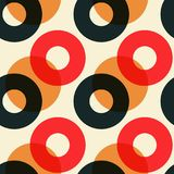 Overlaying color circles seamless pattern. For print, fashion design, wrapping, wallpaper Vector Illustration