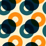 Overlaying color circles seamless pattern. For print, fashion design, wrapping, wallpaper Stock Illustration