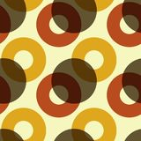 Overlaying color circles seamless pattern. For print, fashion design, wrapping, wallpaper Royalty Free Illustration