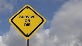 Overleef of sterf vector illustratie