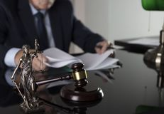 Overleg met een advocaatconcept royalty-vrije stock foto's