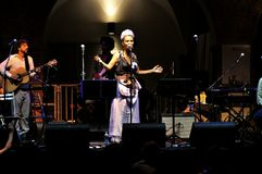 Overleg van Afrikaanse muziek in Florence, Italië royalty-vrije stock foto's