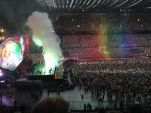 Overleg van Coldplay stock foto's