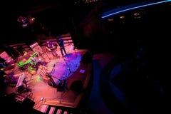Overleg van de Pop groep Indie, Champagne op 24 April, 2009 Stock Fotografie