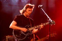Overleg van gitarist Steve Hackett Royalty-vrije Stock Foto's