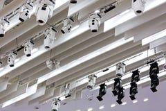 Overlegverlichting op stadium Stock Foto
