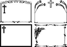 Overlijdensbericht - vectorkaders Stock Afbeelding