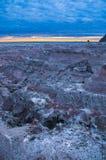 在大荒地Overllook国家公园南达科他附近的日出 库存图片