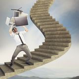 Overload businessman Royalty Free Stock Images