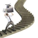 Overload businessman Royalty Free Stock Image