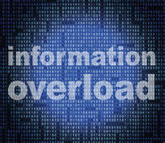 Overload Information Shows Encumber Bytes And Overloading Royalty Free Stock Photo