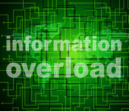 Overload Information Shows Overloaded Fact And Answers Stock Photos