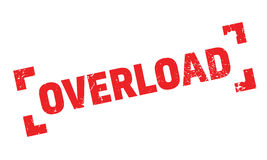 Overload rubber stamp Royalty Free Stock Photos