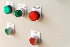 Overload sign buttons. On gray background Royalty Free Stock Photography