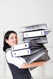 Overloaded assistant Royalty Free Stock Photos