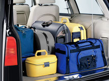 Overloaded bagażnik obraz royalty free