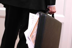 Overloaded briefcase Royalty Free Stock Photos