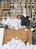 Overloaded Businesswoman Stock Photography