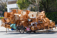 Overloaded chinese transport cart Stock Photography