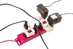 Overloaded electric power bar Stock Photos