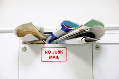 Overloaded mailbox Stock Photo