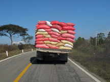 Overloaded truck, Mexico Stock Photo