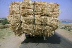 Overloaded truck, rajasthan. Overloaded truck on highway, rajasthan, india Royalty Free Stock Images