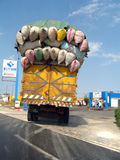 Overloaded truck in Senegal Stock Images