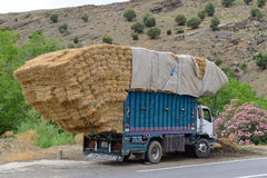 Overloaded truck Stock Images