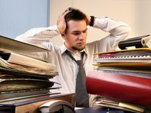 Overloaded worker Stock Photo