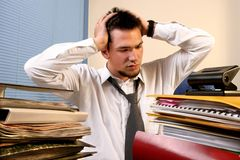 Overloaded worker Royalty Free Stock Photos