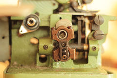 Overlock. Green old vintage construction - overlock Stock Photography