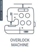 Overlock machine icon royalty free illustration