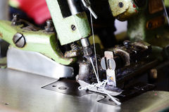 Overlock machine. For the tailor Royalty Free Stock Photos