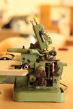 Overlock. Old vintage overlock with patterns Royalty Free Stock Photography