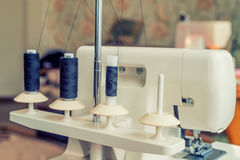 Overlock sewing machine Stock Image