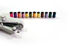 Overlocker colour threads Royalty Free Stock Photography