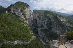 Overlook above canyon Verdon Royalty Free Stock Images