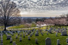 Overlook Arlington National Cemetery stock images