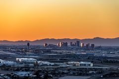 Phoenix Arizona City Overlook at sunset Stock Photography