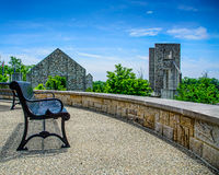 Overlook from Bench at Indiantown Gap Memorial Stock Photography