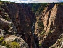 Overlook of Black Canyon, Colorado Stock Photo