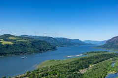 Overlook on the Columbia River gorge royalty free stock image
