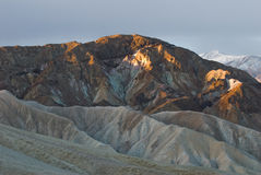 Overlook the death Valley from Zabriskie Point Stock Photos