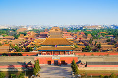 Overlook the Forbidden City in evening Royalty Free Stock Image