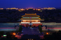 Overlook the Forbidden City Stock Photography