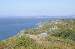 Overlook of Galician coast Royalty Free Stock Images