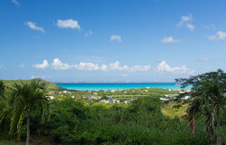 Overlook of Grand Case St Martin Royalty Free Stock Images